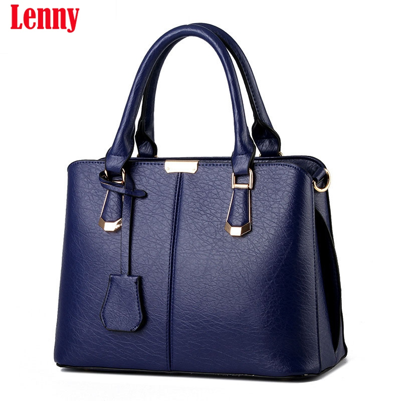 2017 New Women Leather Handbags Fashion Shell Bags Letter Hand Bag Ladies Tote Messenger Shoulder Bags