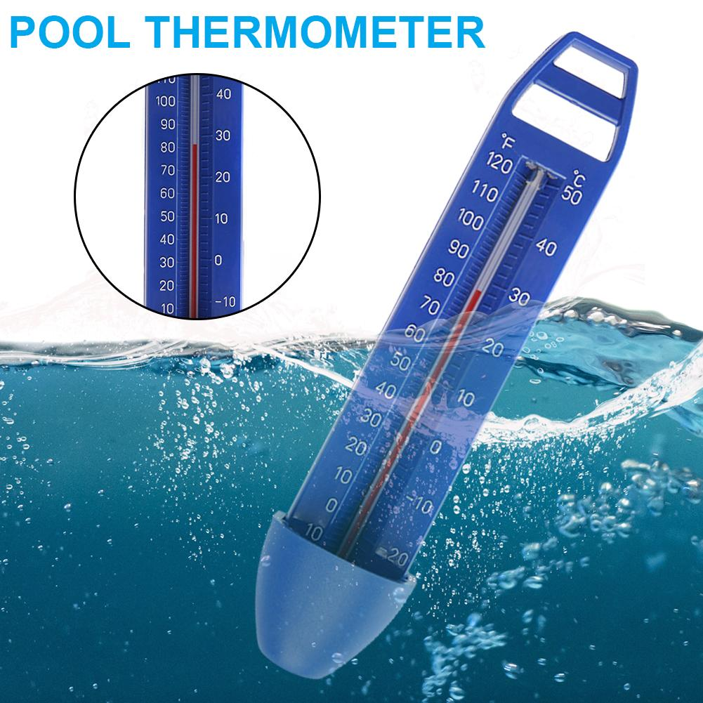 Premium Water Thermometers Integrated Pocket Shatter Resistant For All Outdoor Indoor Swimming Pools Spas Hot Tubs Ponds