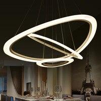 4 кольца акриловые люстра современные круглый кулон лампы 90 260 V 64/88/100 см простые личность подвесные светильники.