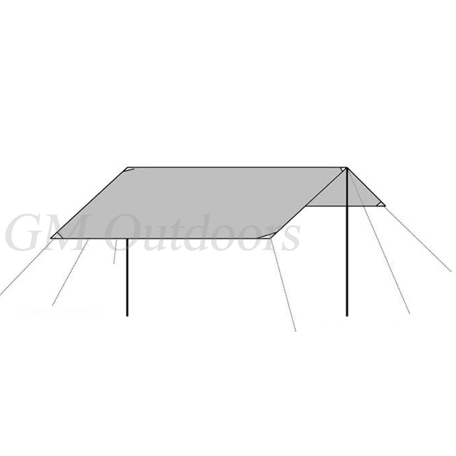HOT SALE Multifunction Adjustable Tent Tarp Mat Waterproof Cover Canopy Outdoor Picnic Beach Camping Hiking FREE POSTAGE In Kites Accessories From