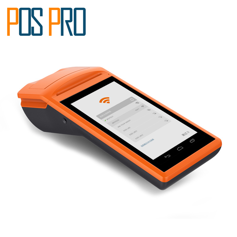Cammera Wireless Android Data Collector Handheld POS terminal Computer PDA 1D/2D/QR Barcode Reader with Receipt Printer 2d wireless barcode area imaging scanner 2d wireless barcode gun for supermarket pos system and warehouse dhl express logistic