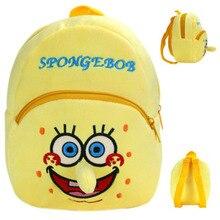 spongebob backpack kids plush backpacks funny plush toys bag for kids 23cm cute animal Kindergarten school bag