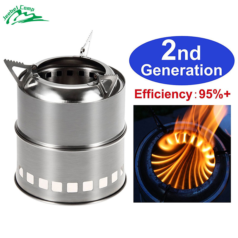 Jeebel Portable Wood Burning Camping Stove Stainless Steel P Stove camping equipment for Outdoor Backpacking Hiking