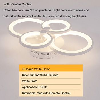 Double Glow Modern led chandelier for living room bedroom study room remote controller dimmable ceiling chandelier AC90-260V 8