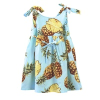 Baby Girls Dress Summer Style Floral Print Party Dresses For Girls Vintage Toddler Girl Clothing