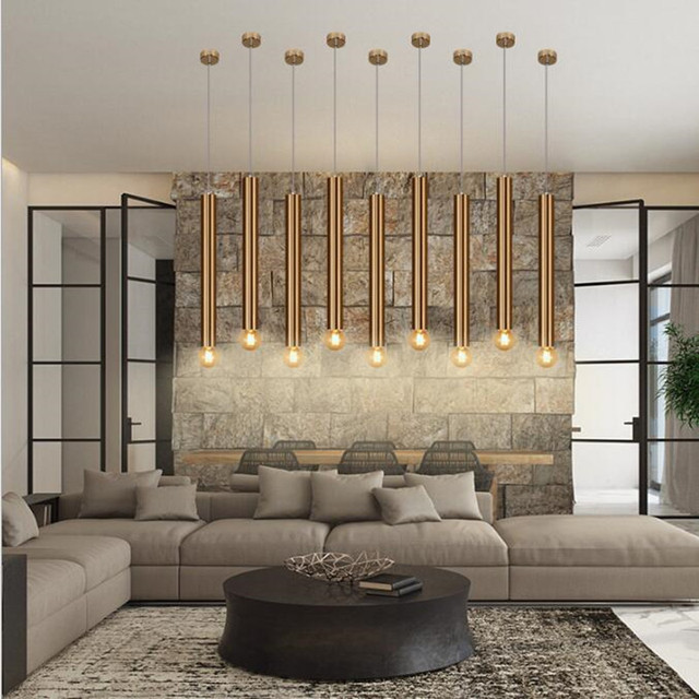 Modern Home Decoration Led Dining Room Pendant Light Art Cylindrical Aisle Down Corridor