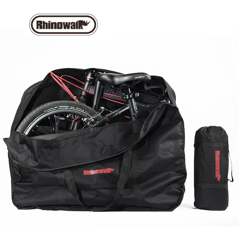 Rhinowalk 14&20 inch Folding Bag Bicycle Vehicle Carrying Backpack Storage Package 600D Multifunction Durable Folding Bike Pack spark storage bag portable carrying case storage box for spark drone accessories can put remote control battery and other parts