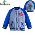Capitán América Chaqueta para Niños Minnie Mouse Bebé Outwear Otoño Invierno Superhéroe Deporte Chaqueta Muchachas de la Capa de Béisbol Chico Chándal