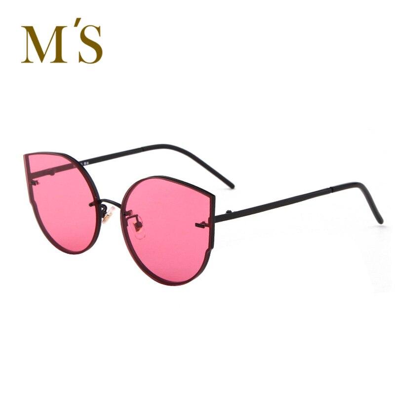 MS Fashion Women Sunglasses Cat Eye Shades Luxury Brand Designer Sunglasses Transparent Color high quality glasses woman UV400