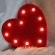 3D LED Heart Love Night Light Wedding Home Decorations Holiday Party Su