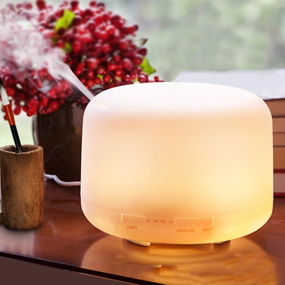 Ultrasonic Humidifier 500ml Mist Diffuser Sprayer Office Home Desktop Purifier Night Light LED Air Humidifier Mute Operation usb air humidifier little diffuser with home atomization spray office home purifier water sprayer meng pet night light and fan