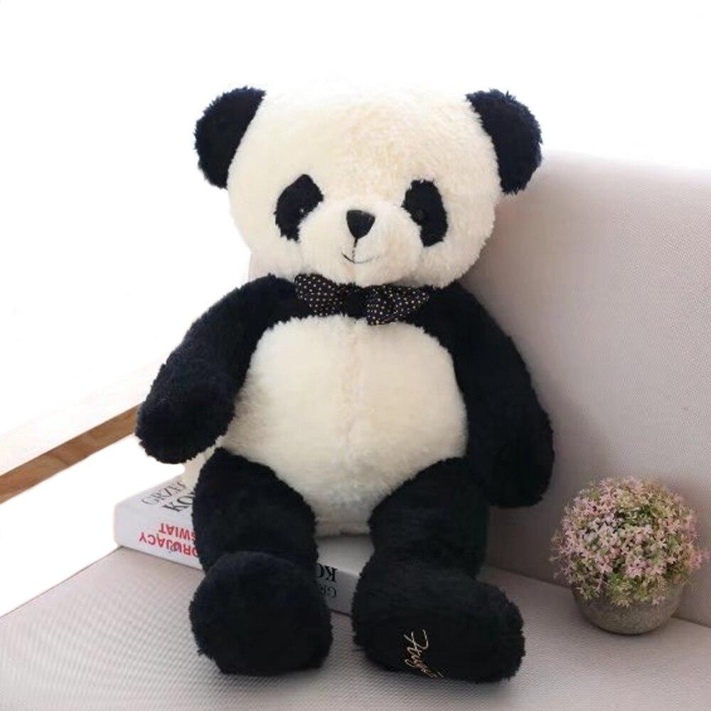 1 pc 80 cm Belle Panda En Peluche Jouets En Peluche Doux Animal de Bande Dessinée poupée Ours Mignon Cadeau pour les Enfants Enfants Bébé Filles de Valentine cadeau