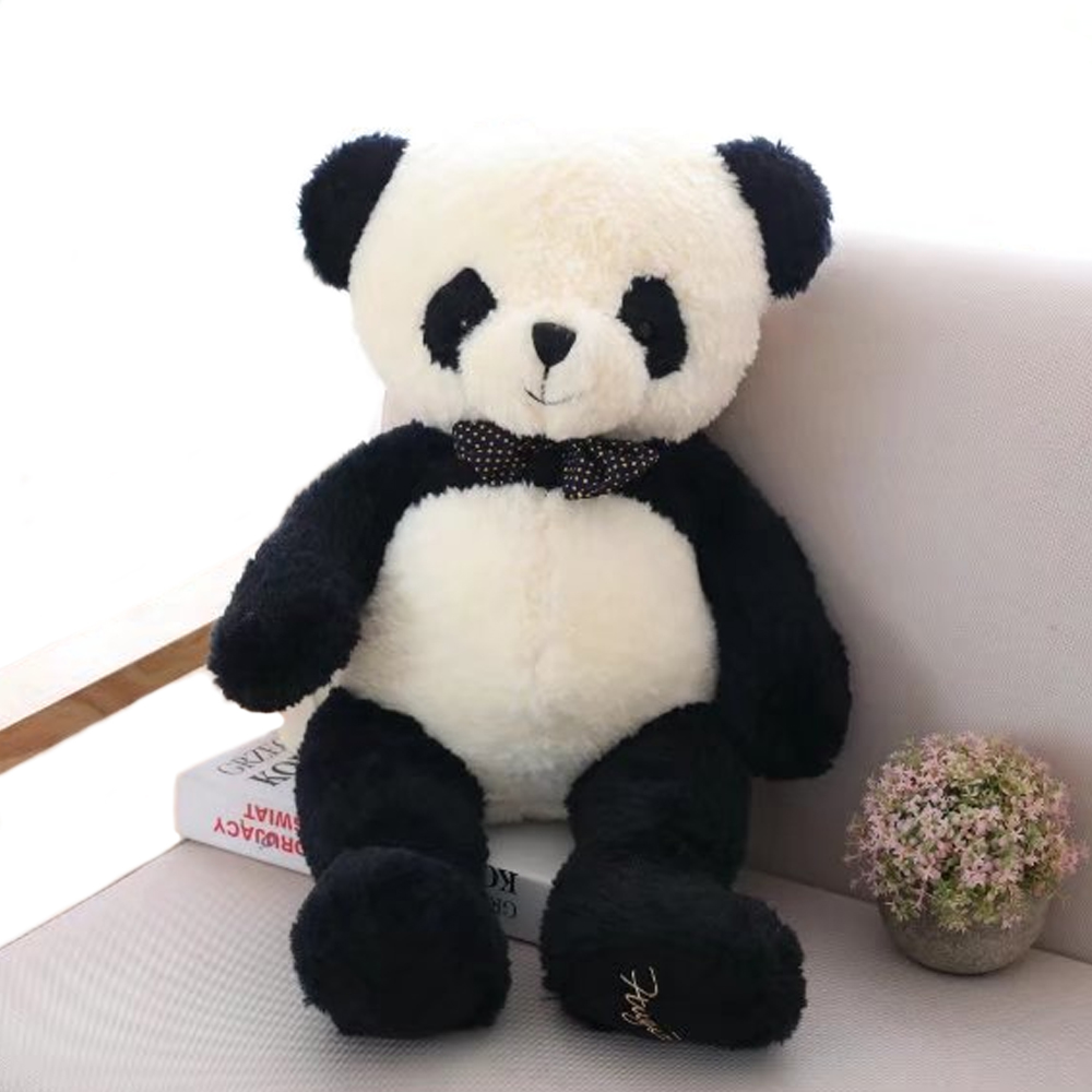 1pc 80cm Lovely Panda Plush Toys Stuffed Soft Cartoon Animal Doll Cute Bear Gift for Children Kids Baby Girls Valentines Gift