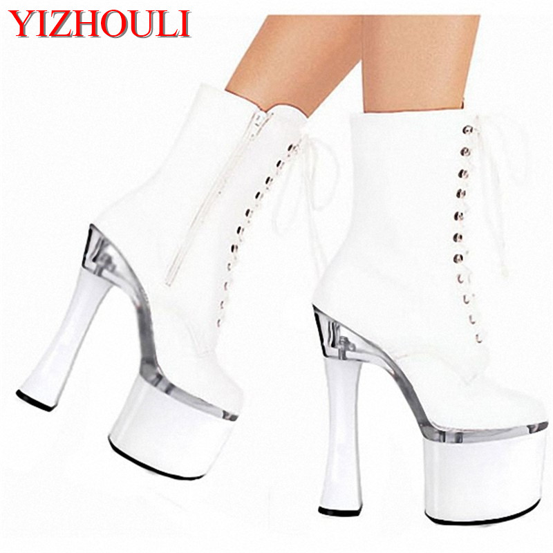 18cm High-Heeled Shoes The Bride Wedding Shoes Dinner Low Thick Heel Boots 7 Inch Round Toe Boots Formal Platform Dress Shoes globo потолочный светодиодный светильник globo yucatan 48251 18