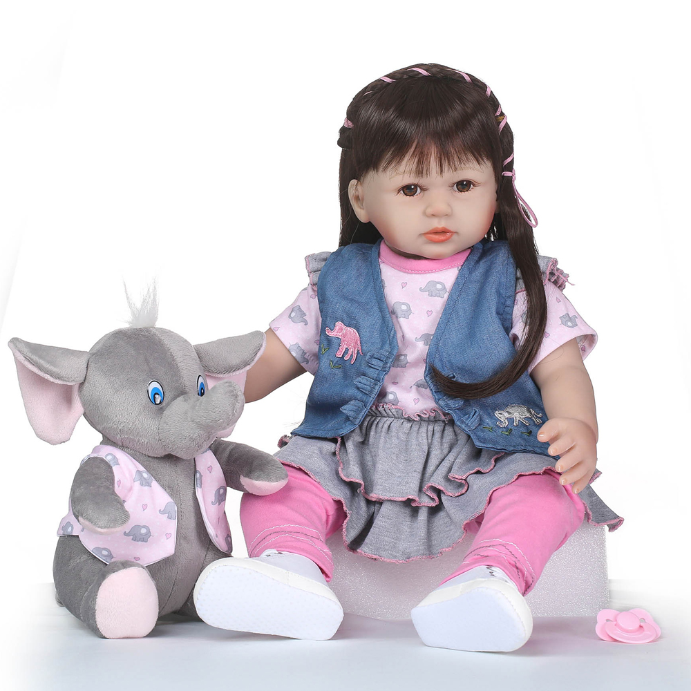 Latest Cute NPK soft Silicone Reborn Baby Dolls About 58cm With High Quality Lifelike Baby Dolls For Kids Gifts BrinquedosLatest Cute NPK soft Silicone Reborn Baby Dolls About 58cm With High Quality Lifelike Baby Dolls For Kids Gifts Brinquedos