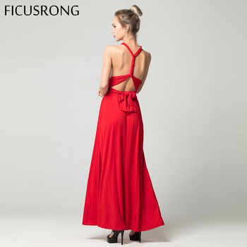 Sexy Long Dress Bridesmaid Formal Multi Way Wrap Convertible Infinity Maxi Dress Red Hollow Out Party Bandage Vestidos FICUSRONG - DISCOUNT ITEM  50% OFF All Category