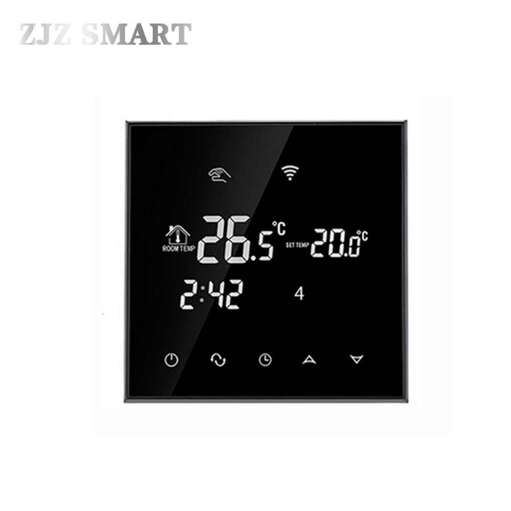 WiFi Touch Screen Thermostat Temperature Controller for Electric/ Water floor Heating Water/Gas Boiler Works Weekly Programmable 2