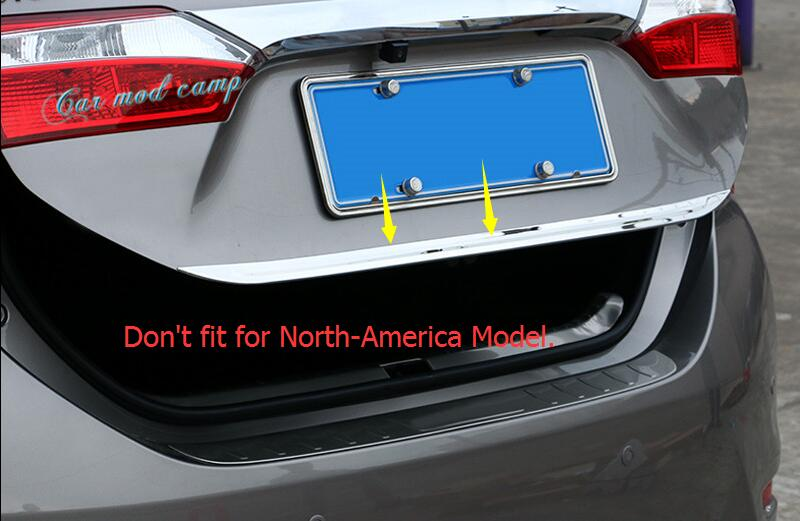For Toyota Corolla 2014 2015 2016 2017 Sedan (Not fit for North-America Model) Stainless Rear Tail Gate Molding Cover Trim 1pcs