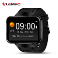 Surpresa! lemfo lem4 sistema operacional android smart watch phone gps suporte cartão sim mp3 bluetooth wi-fi smartwatch para apple ios android os