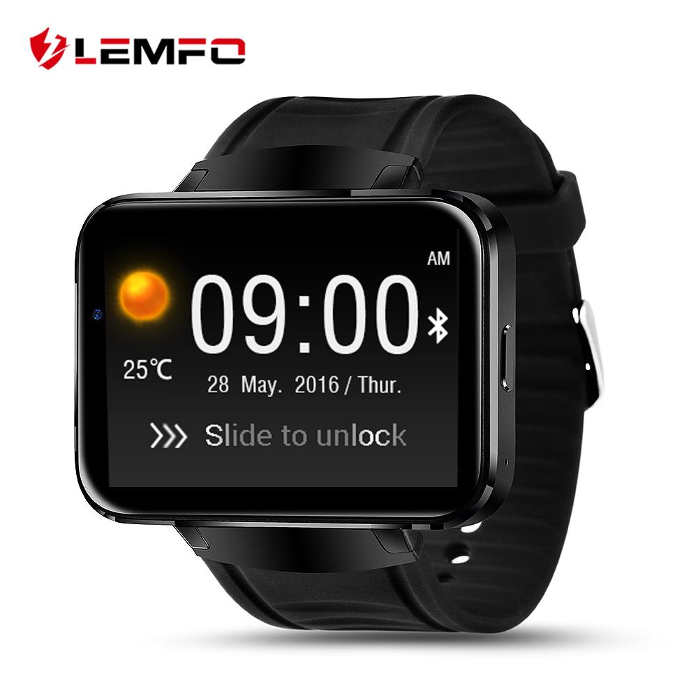 Prix pour Surprise! LEMFO LEM4 Android OS Smart Watch téléphone support GPS carte SIM MP3 bluetooth WIFI smartwatch pour apple ios android os