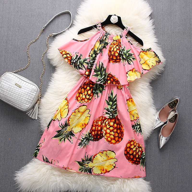 [Alphalmoda] 2017 Summer Womens Trendy Printed Ruffle Dress Halter Neck Ruffle Elastic Waist Ladies Brisk Beach Dress