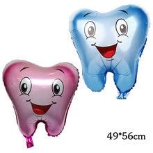 1 шт. большие воздушные шары из фольги для зубов детские милые надувные шары с днем рождения украшения детский душ вечерние принадлежности