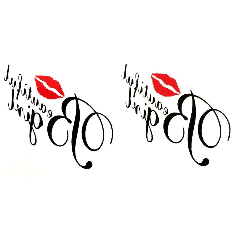 My Sexy Kiss Waterproof Temporary Tattoos Men My Love Harajuku Fake Tatoo Stickers Tattoo Kids Tatuajes Temporales