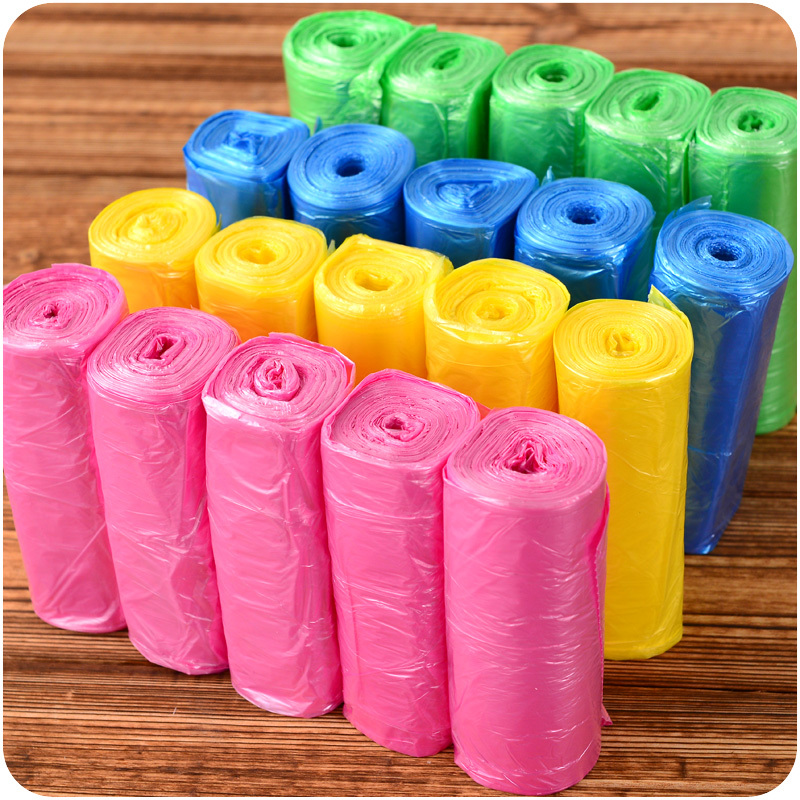150 Disposable Garbage Bags, Thickening Household Cleaning Point Broken Type Disposable Household Kitchen Black Plastic Bag Roll