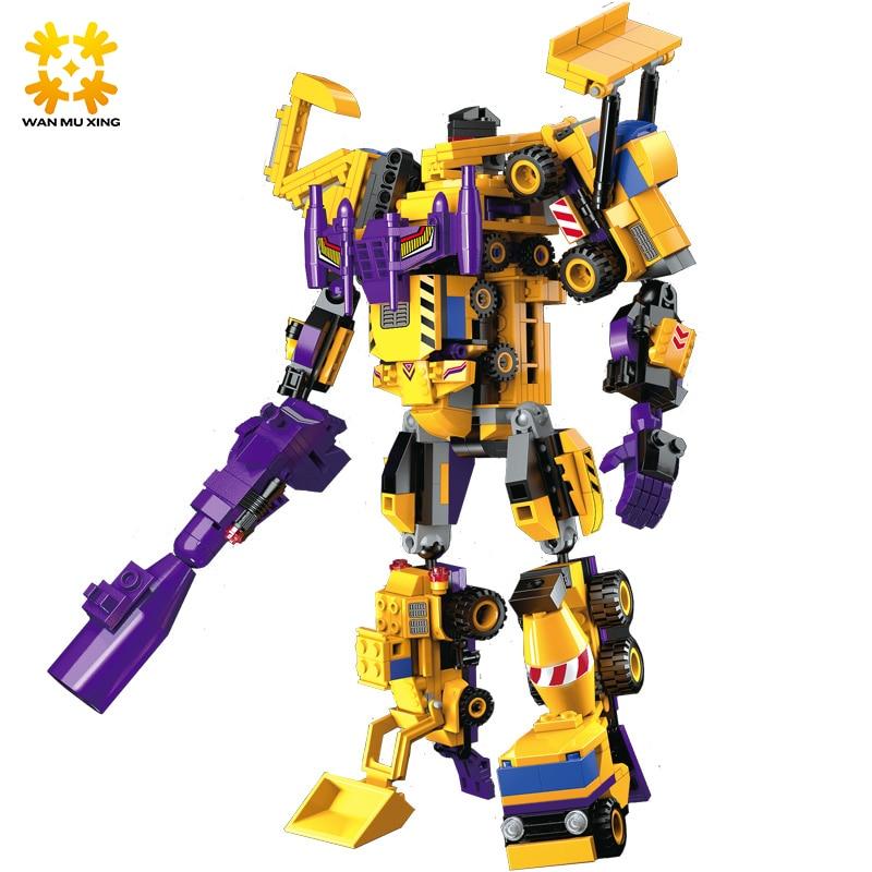 599pcs 7 en 1 Le Créateur Dieu Robot Building Blocks Ensembles - Concepteurs et jouets de construction - Photo 3