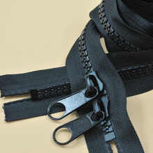 10 super-wide resin tent zipper fishing utensil pavilion zipper double closed double pull the first card