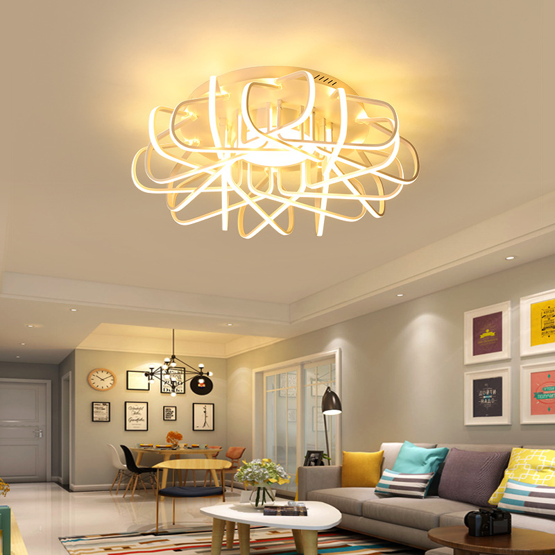LED ceiling lights Simple modern round living room lamp home led bedroom ceiling lamp creative hall lamp led ceiling lights living room light led ceiling lamp simple creative fashion restaurant lights bedroom hall lamp aluminum lamp