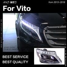 AKD Car Styling Testa Della Lampada per Vito Fari 2013-2018 Tutti I Nuovi Vito HA CONDOTTO il Faro LED DRL Hid Bi xenon Auto Accessori