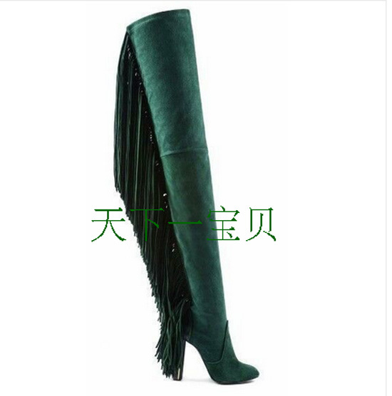 Green Sheepskin Boots Promotion-Shop for Promotional Green ...