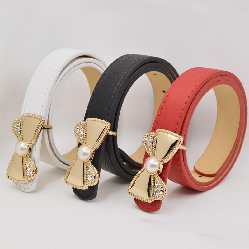 2019 New Children's Belt Fashion Leisure Designer Children's Belt Of Boys And Girls Cowboy Belts Jeans Pure Color Waist Belt