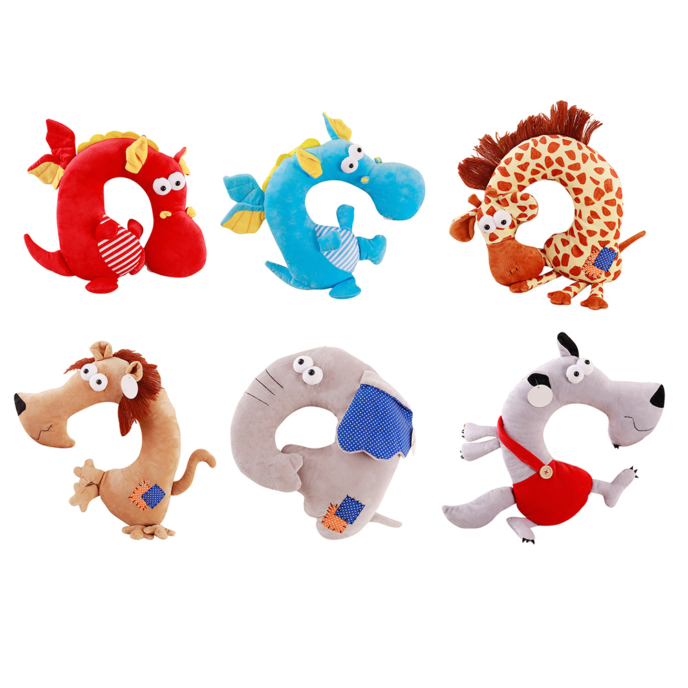 2 In 1 Cartoon U Shape Neck Pillow 30*35cm Home Cushion Pillow Child Toy Birthday Present To Girl Christmas Gift Toy To Have A Unique National Style