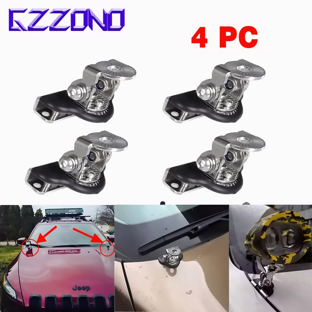 2 Pcs Metal Car A Pillar Hood Mount Bracket Clamp NO Damage Holder For LED Light