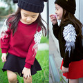 2017 New kids girls Sweater boys clothes Children Spring Wings 3d Sweater girls Child Clothes Angel Wings Winter Coats CE020