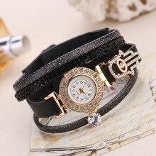 Fashoin Bracelet Watch Women Luxury Gold Crystal Dress