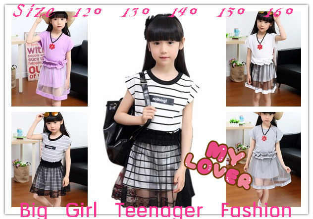 Aliexpress.com : Buy Summer dress teenager big girls dresses kids ...