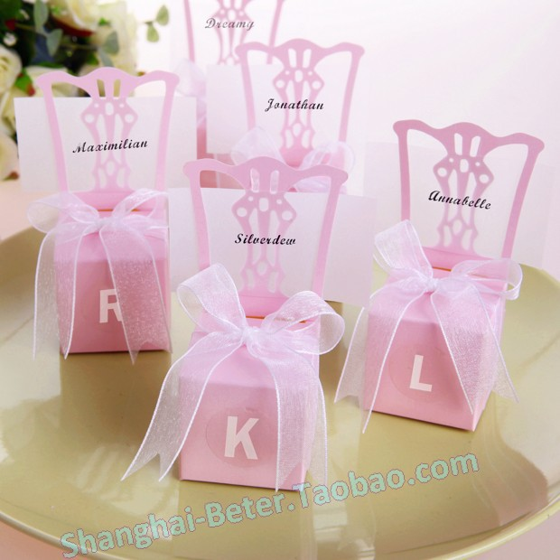 Factory 100TH005-B2 Pink Miniature Chair Favor Box wedding gift, party, event - Unique Wedding Favors store