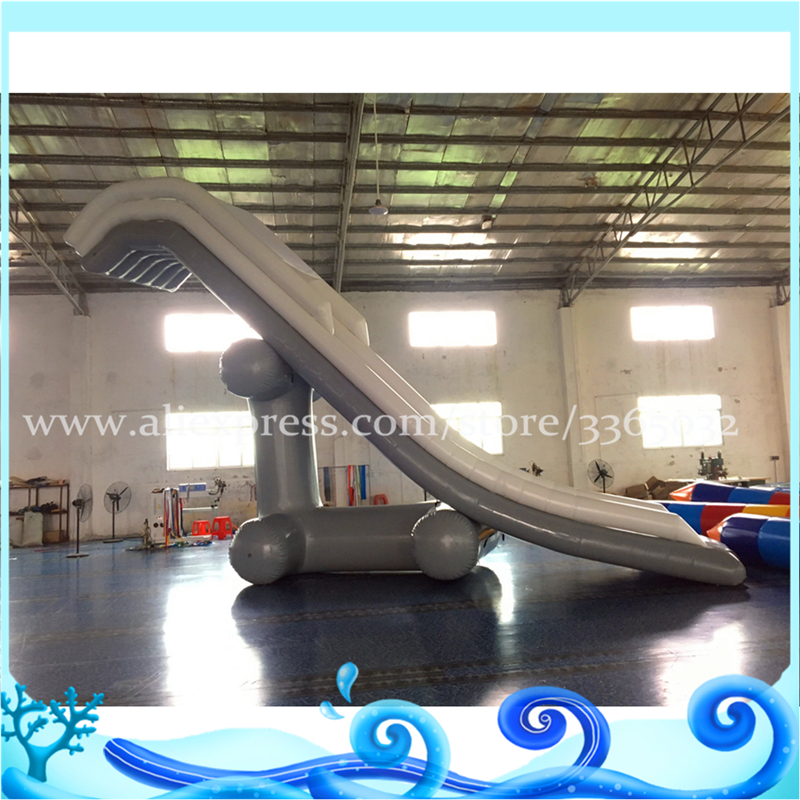 Hot sale inflatable water yacht slide wahoo inflatable slide game play on water big water inflatable slide funny inflatable slide water slide for sale