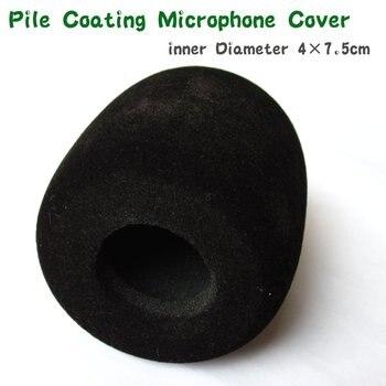 "FREE SHIPPING 100pcs/LOT Pile Coating bilack Interview microphone Windscreen Foam Cover,Inside Diameter: 4cm (about .1.57"")"