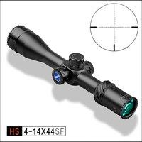 Discovery HS 4 14X44SF FFP MOA Охота стрельба прицел HD объектива прицел Монокуляр телескоп координировать Пистолет Аксессуары