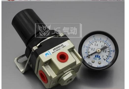 AR3000-02 1/4'' Port Size Air Control Compressor Pressure Gauge Relief Regulating Regulator Valve 1pc air compressor pressure regulator valve air control pressure gauge relief regulator 75x40x40mm