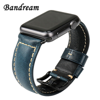 Italy Genuine Oil Leather Watchband For IWatch Apple Watch 38mm 42mm Series 1 2 3 Band