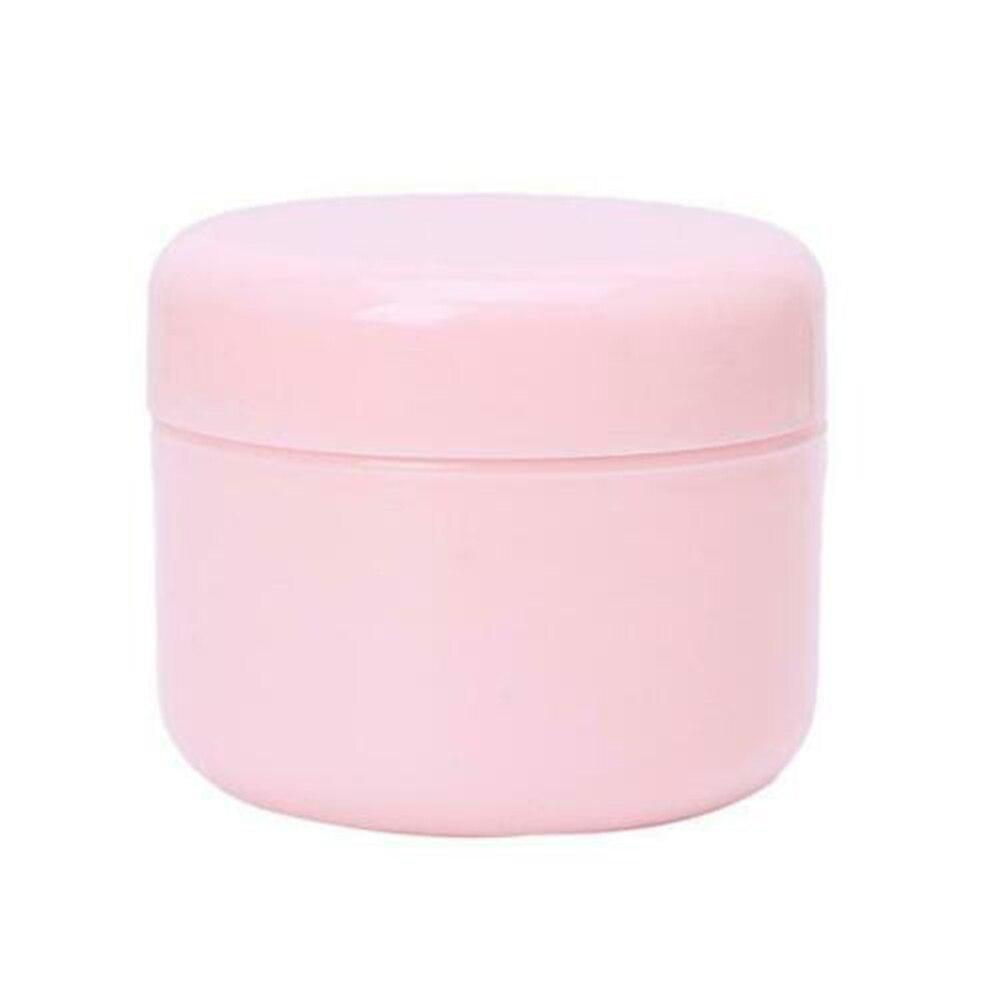1 шт. бутылки многоразового использования Пластик пустой Макияж Jar горшок крем для лица/лосьон/контейнер для косметики 5 цветов 10/20/30/50/100/150g - Цвет: pink