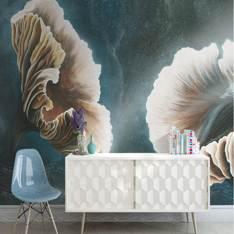 3d custom photo painting for walls background wallpaper hand painted black gray flower large wall mural living room home decor shinehome sunflower bloom retro wallpaper for 3d rooms walls wallpapers for 3 d living room home wall paper murals mural roll