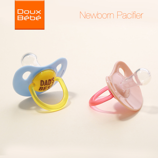 Doux bebe Food Grade Silicone Funny Baby Pacifiers Dummy Nipple Newborn Soother Toddler Holder Pacifiers Care for baby