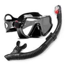 3e103496b YFXcreate Máscara de Mergulho e Snorkel Profissional Anti-Nevoeiro Óculos  de Mergulho Óculos de Natação