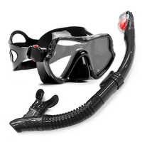 Yfxcrear máscara de buceo profesional y Snorkels gafas Anti-niebla gafas de buceo natación fácil juego de tubos de respiración
